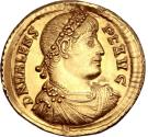 Ancient Coins - Valens. Gold solidus, minted in Constantinople, AD 367. RESTITVTOR REIPVLICAE // *CONS(wreath).