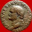 Ancient Coins - Vespasian (69 - 79 A.D.),bronze as ( 10,25 g. 25 mm).Rome mint, 77-78 A.D. Spes.