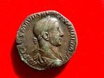 Ancient Coins - Roman Empire - Severus Alexander (222 - 235 A.D.), bronze sestertius ( 18,25 g. 29 mm). 228 A.D. Rome mint. P M TR P VI COS II P P. Virtus.