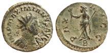 Ancient Coins - Maximianus I AE antoninianus. Lugdunum. 290-291 AD. PAX AVGG. B.