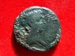 Very scarce KINGDOM of MAURITANIA-NUMIDIA. Juba II AE27, 25 BC-23 AD. REX IVBA, BACILLICCA KLEOPATRA.