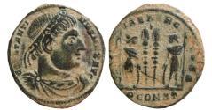 Ancient Coins - Constantine I AE follis. GLORIA EXERCITVS. Arles. PCONST.