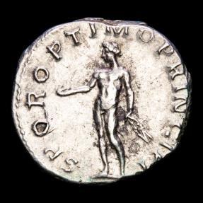 Ancient Coins - Trajan (98-117), Silver denarius, Rome, AD 112-117. - SPQR OPTIMO PRINCIPI, Genius.