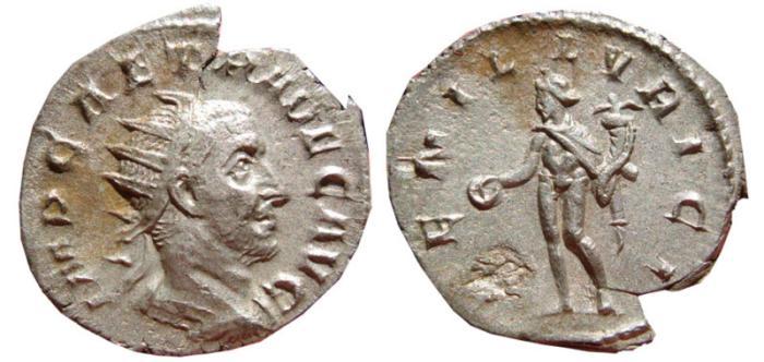 Ancient Coins - Trajan Decius AR antoninianus, Mediolanum. 250-251 AD. GEN ILLVRICI. Very scarce.