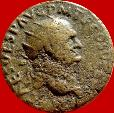 Ancient Coins -  Vespasian (69 - 79 A.D.), bronze dupondius (11,47 g. 25 mm) from Rome mint, 73 A.D. FELICITAS PVBLICA.