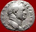 Ancient Coins - Roman Empire - VESPASIAN (69-79 A.D.) silver denarius (3,00 grs. 17 mm.). Rome mint. VESTA.