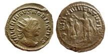 Ancient Coins - Valerianus II silvered antoninianus. Rome mint.  254-5 AD. PRINC.IVVENTVTIS.