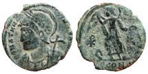 Ancient Coins - Constantinopolis AE half follis. Arles. Chi-Rho. SCONST.