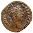 Ancient Coins - Roman Empire - Marcus Aurelius, 161-180, bronze sestertius (27 g., 32 mm), Rome, 169-170. SALVTI AVG COS III.