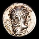 Ancient Coins - L. Opeimius. AR denarius. Rome in 131 B.C. - L. OPEIMI / ROMA. Apollo driving biga right.