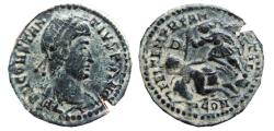Ancient Coins - Constantius II AE19. Arles. FEL TEMP REPARATIO. D/PCON. Struck failure.