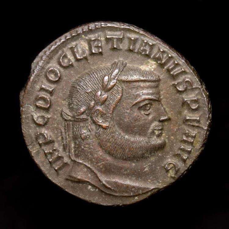 Ancient Coins - Diocletian. A.D. 284-305. Æ follis. Antioch. - GENIO POPVLI ROMANI K / S-V / ANT
