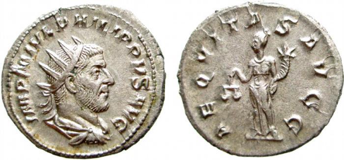 Ancient Coins - Philip I AR antoninianus. Rome, 245-247 AD. AEQVITAS AVG. EF.