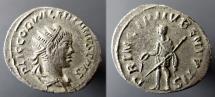 Ancient Coins - Base silver Antoninianus, Valerian II, as Caesar, Antioch: PRINCIPI IVBENTVTIS - Prince standing left