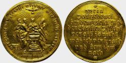 World Coins - GERMANY. Nürnberg. GOLD Baptismal Medal (18th century).