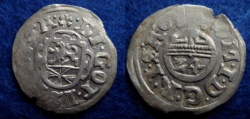 World Coins - GERMANY – BRUNSWICK-WOLFENBÜTTEL – 1/24 Taler – 1619 – COAT OF ARMS – EF!