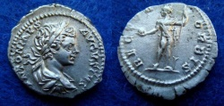 Ancient Coins - CARACALLA – DENARIUS – ROME – RECTOR ORBIS – Near EF!