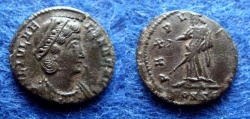 Ancient Coins - HELENA AUGUSTA – FOLLIS – CONSTANTINOPLE – PAX – GOOD VF!
