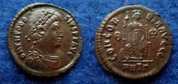 Ancient Coins - THEODOSIUS – AE – ANTIOCH – CONCORDIA – RARE – EF!