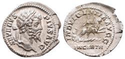 Ancient Coins - SEPTIMIUS SEVERUS – DENARIUS – ROME – DEA CAELESTIS – GOOD EF!