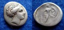 Ancient Coins - LOKRI OPUNTII – HEMIDRACHM – PERSEPHONE – AJAX – VF!