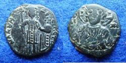 Ancient Coins - MANUEL I COMNENUS – HALF TETARTERON – THESSALONICA – CHRIST – VF!