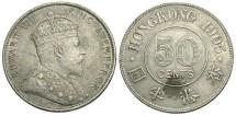 World Coins - Hong Kong. 1905. 50 Cents. VF.
