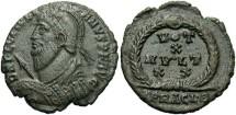 Ancient Coins - Julian II. A.D. 360-363. AE 3. VF. Heraclea