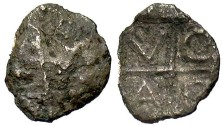Ancient Coins - Thrace, Pantikapaion. Ca. 450-350 B.C. AR hemiobol. Fine.