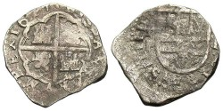World Coins - Mexico. Philip IV. 1627. AR 2 Reales. Fine.