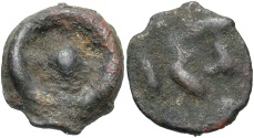 Ancient Coins - Moesia, Istros. Late 5th century A.D. Cast Æ. Near VF.