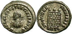 Ancient Coins - Constantine II, as Caesar. 316-337 AD. Silvered AE3. Heraclea.