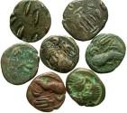 Ancient Coins - Lot of seven coins, Persis, Orodes I. 57-38 B.C. Æ unit. VF.