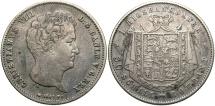 World Coins - Denmark. Christian VIII. 1847-FK VS. 1 rigsbankdaler. Choice VF.