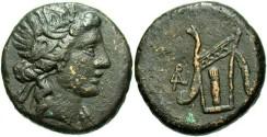 Ancient Coins - Bosporus Kingdom, Gorgippa. Fourth period, ca. 79-65 B.C. Æ obol. VF.