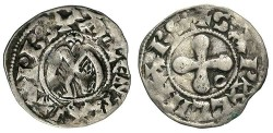 World Coins - France, Valence. 12th-13th centuries. Billon Denier. Toned VF.