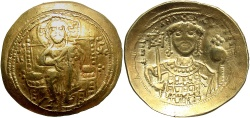 Ancient Coins - Michael VII Ducas. 1071-1078. AV histamenon nomisma. Constantinople. VF, graffiti.