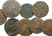 World Coins - [Russia]. Lot of eight Æ of Peter I.