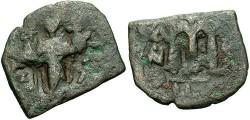 Ancient Coins - Constans II. A.D. 641-668. Æ follis. Constantinople. Fine.