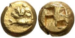 Ancient Coins - Mysia, Kyzikos. Ca. 550-500 B.C. EL hekte. EF.