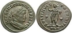 Ancient Coins - Constantine I. A.D. 307-337. Æ follis. Lugdunum, A.D. 309-310. EF.
