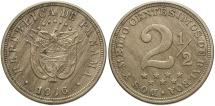World Coins - Panama. 1916. 2 1/2 centesimos. AU, scarce 1-year type.