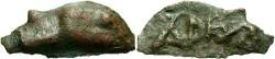 Ancient Coins - Thrace, Olbia. Ca. 438-410 B.C. Cast Æ 26 mm. Near VF.
