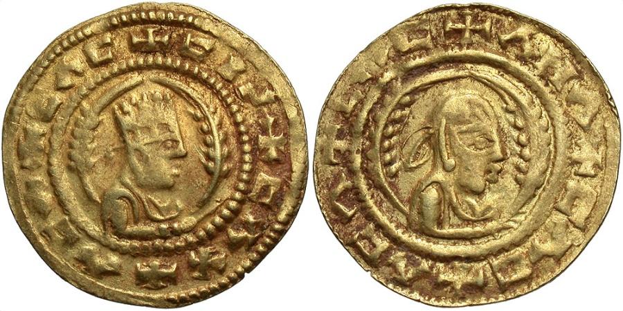 Ancient Coins - Axumite Kingdom. Ebana. 5th century A.D. AV tremissis. VF.