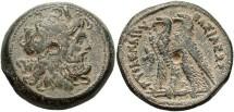 Ancient Coins - Ptolemiac Kingdom. Ptolemy VI. 180-145 B.C.. Æ 30 mm. VF, olive-brown patina.