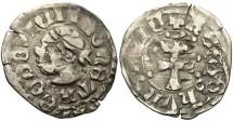 World Coins - Hungary. Louis I. 1342-1382. AR Denar. VF.