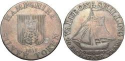 World Coins - Great Britain. Hampshire. 1811. AR Shilling Token. Near Fine.