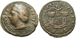 World Coins - Ragusa. 16th century Æ follaro. Near VF, brown patina. Nice for issue.
