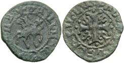 Ancient Coins - Cilician Armenia. Smpad. 1296-1298. Æ pogh.