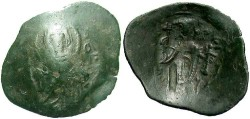 Ancient Coins - Latin Empire of Constantinople. A.D. 1204-1261. Æ trachy. Fine.